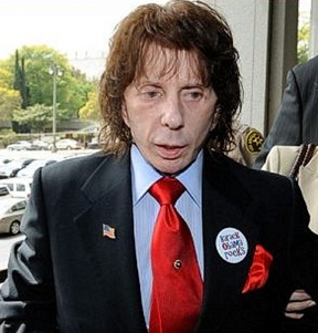 Phil Spector Wears a Barack Obama Badge