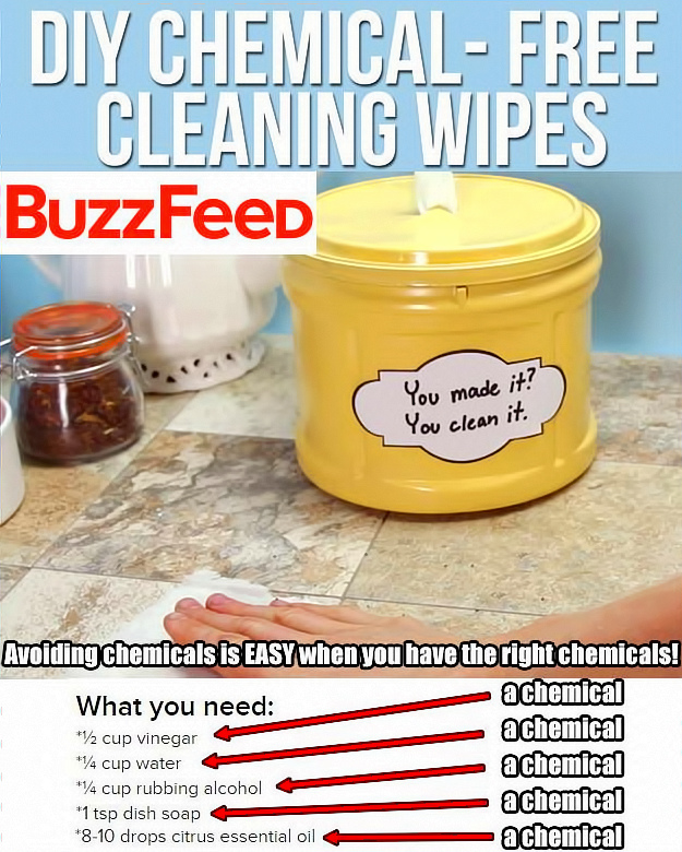 Lots of chemicals in these chemical free wipes!