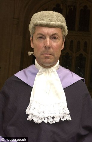 Judge Jonathan Durham Hall QC (pictured) offered to pay a teenage girl's court fine as he refused to jail her for stabbing the pedophile who abused her as a child.