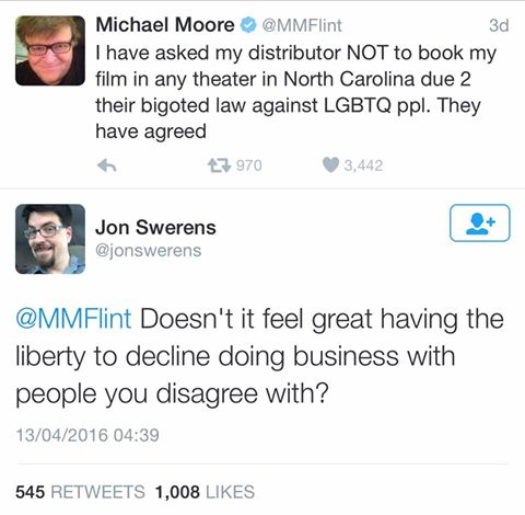 Michael Moore - hypocrite