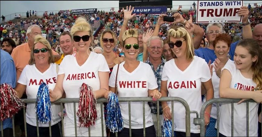Malicious fake Make American White Again photo-shop